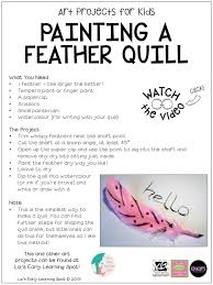 art projects for kids make and paint a feather quill liz u0027s