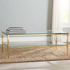 Glass And Gold Coffee Table Gold Coffee Tables You U0027ll Love Wayfair