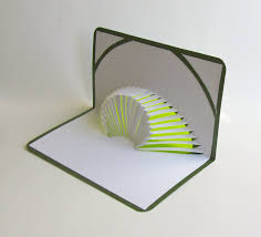 3d pop up card of geometric volcano design with intricate cuts