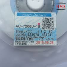 2pcs for hitachi original w1 5mm l50m ac 7206u 18 acf film
