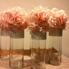 Bling Wrap For Vases 12 Cylinder Shaped Vases With Silver Rhinestone Look Mesh