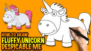 how to draw a unicorn fluffy unicorn from despicable me easy
