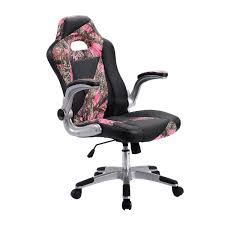 Leather Chairs Office Pink Camo Pu Leather High Back Executive Office Chair Office