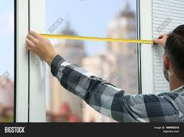 young man taking measure window image u0026 photo bigstock