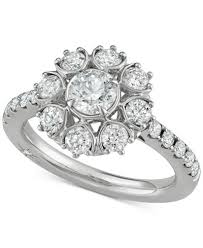 floral engagement rings marchesa diamond floral engagement ring 1 5 8 ct t w in 18k
