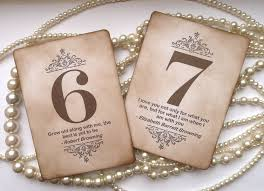 wedding table numbers vintage table numbers quotes table