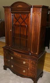 mahogany china cabinet furniture inlaid antique mahogany china cabinet