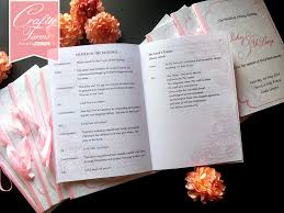 wedding church programs wedding card malaysia crafty farms handmade soft pink peonies