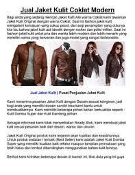 desain jaket warna coklat jual jaket kulit coklat by ummu asiyah issuu
