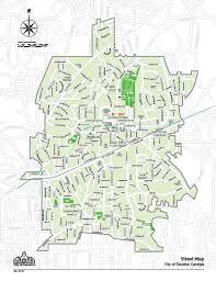 ga map city maps city of decatur ga