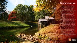 thanksgiving day song prayer eddie mallonen scenery river watermill