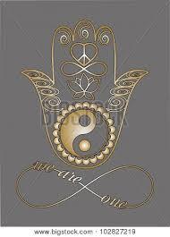buddha hand tattoo buddha hand ying yang symbols love vector u0026 photo bigstock