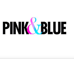 home page pink and blue magazine