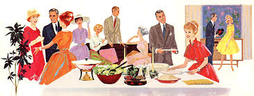 vintage dinner party banner vintage cards stock and