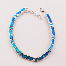 bracelet fire images Free shipping blue fire opal 925 sterling silver bracelet 7 5 quot 0 5 jpg