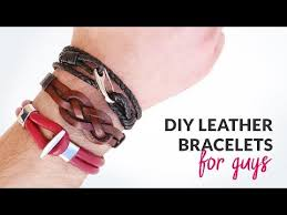 leather bracelet styles images Diy 3 styles of leather bracelets for guys gift idea curly jpg