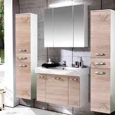 badezimmer set günstig badmöbel set sonoma eiche glanz weiß 80cm 94813 schildmeyer