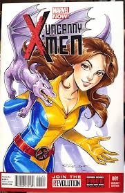 kitty pryde x men sketch cover commission by kelleeart on deviantart