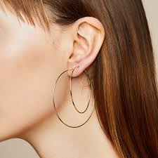 hoop earring large hoop earrings bychari