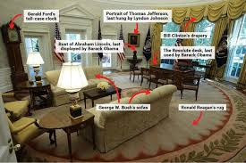 reagan oval office trump s oval office features reagan s rug and clinton s curtains