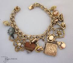 gold charm link bracelet images 82 best vintage charm images charm bracelets jpg