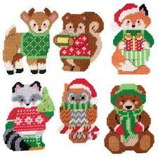 herrschners woodland animals ornaments plastic canvas