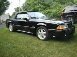 Black Mustang Gt Convertible For Sale Ford Mustang Convertible 1993 Black For Sale 1facp45expf105243