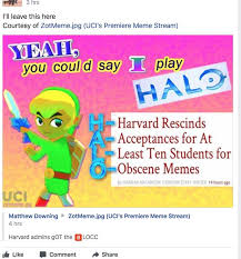 Memes Facebook Chat - harvard rescinds 10 offers to students who shared hateful memes in