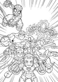 printable image super hero squad free kids color