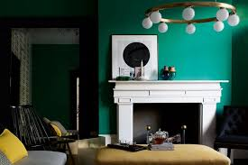 emerald green living room wall paint colour ideas