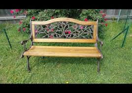 cast iron and wood garden bench diy restore project u2013 woodwork