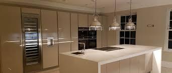granite countertop white gloss kitchen with black worktops lg