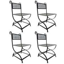 Wrought Iron Chairs For Sale Set Of Four Wrought Iron High Back Chairs For Sale At 1stdibs