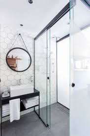 Black And White Bathroom Tiles Ideas by Best 10 Hexagon Tile Bathroom Ideas On Pinterest Shower White