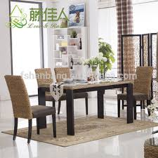 Bamboo Dining Table Set Java Home Living Sunroom Rattan Water Hyacinth Bamboo