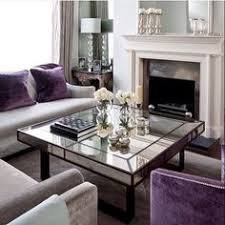 Charcoal And Purple Living Room Loving This  DECORAÇÃO E - Purple living room decorating ideas