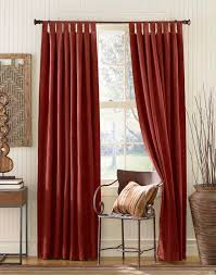 accessories simple and neat window treatment decoration using red