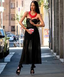 black necklace dress images Konstantina tzagaraki romwe black dress topshop red necklace jpg