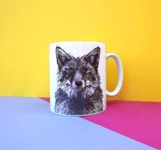 Fox Mug by Bex Shedrawsanimals Twitter
