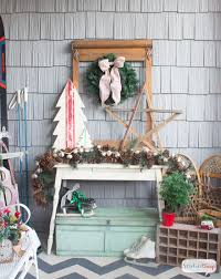 Christmas Porch Decorations Ideas by Vintage Inspired Christmas Porch Decorations Atta Says