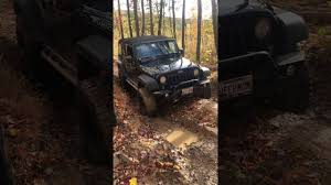 muddy jeep jeep wrangler off road on muddy trails at rausch creek youtube