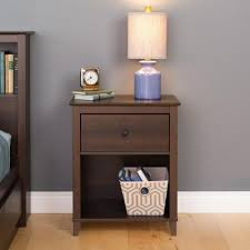 buy the prepac yaletown 1 drawer espresso nightstand great price