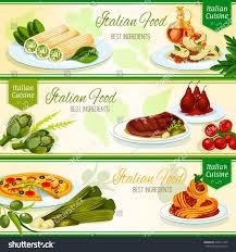 cuisine diet cuisine restaurant banners seafood pizza เวกเตอร สต อก