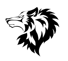 angry wolf face with black tribal tattoo stencil tattooshunter com