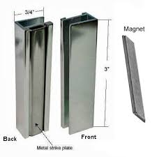 Magnetic Shower Door Latch Brushed Nickel Shower Door U Channel With Metal Strike And Magnet