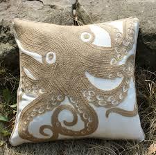 aliexpress com buy vezo home embroidered khaki octopus canvas