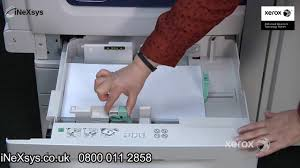 how to load the paper trays xerox work centre 7200 7220 7220i