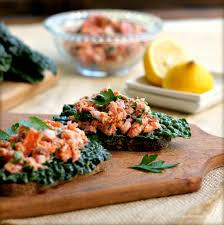 holiday appetizers healthy holiday appetizers warm smoked salmon and kale crostini