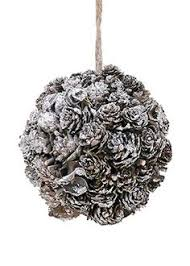mini beaded silver pinecone ornament pinecone ornament and minis