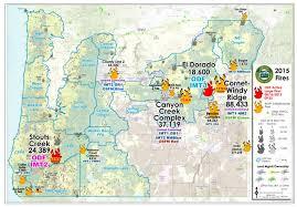 oregon wildfire map oregon map